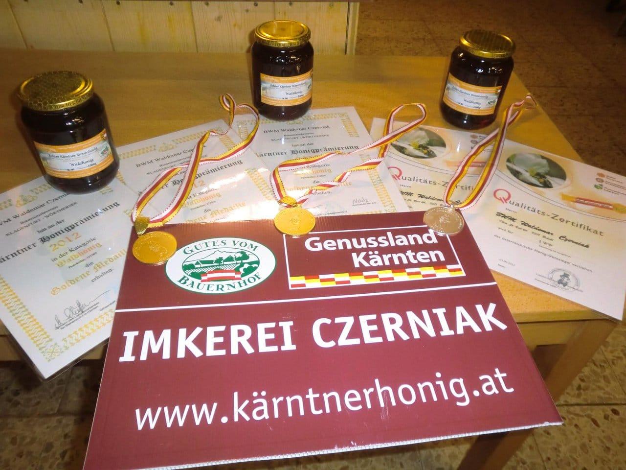 Imkerei Czerniak Auszeichnungen